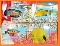 CC: 4 from 1 collaged postcards USA