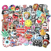 Stickers EVERYWHERE!!! Notecard