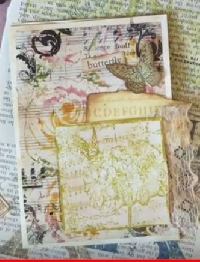 YTPC:  Art Journal Page #21: Rubber Stamping
