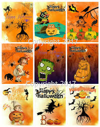 Halloween cards with flat Halloween surprise!
