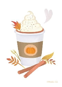🎃☕Pumpkin Spice Latte ATC INTL
