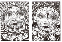 EASU: Zentangles with Faces ATC Swap