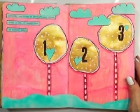 YTPC: Art Journal Page #23: Whimsical Trees