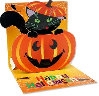 Cat Themed Halloween Card Swap - USA