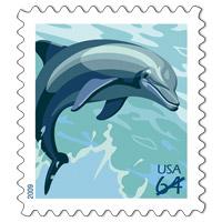 ✉ Flora & Fauna Postage Stamps — USA #1