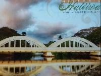 October Bridges postcard