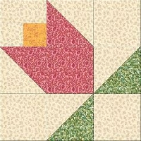 2020 Tulip of the month block USA
