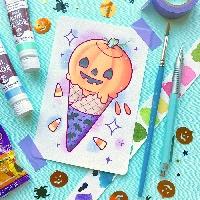 Pastel Halloween ATC