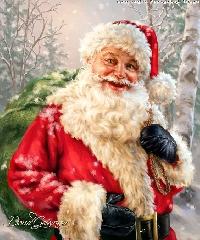 Santa Claus card swap