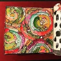 Handmade Art Journal Go Round R47