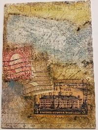ETHP: Distress Crayons & Collage Medium ATC