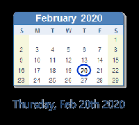 FEB 20, 2020 postcard INT