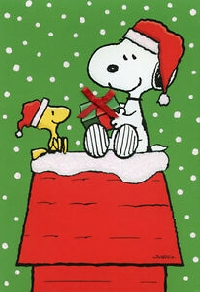 Peanuts or Snoopy Christmas Card Swap - USA