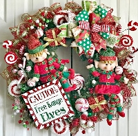 🎅🎄Christmas ATC Series INTL 4/9 - Xmas Wreath!