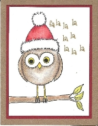 MissBrenda's Christmas Card Swap #7 BIRD