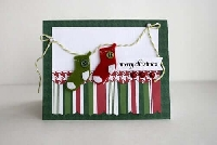 **HANDMADE** Christmas card #2~USA