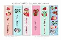 Christmas/Holiday Animal Bookmarks - US/NA