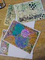 TPS: Gelli-Print Notecards