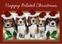 Christmas Greeting Card to Postcard
