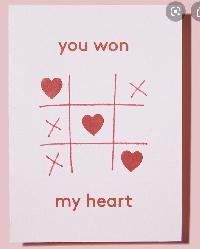 Handmade Valentines Unused Cards