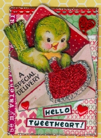 MFF:  Valentine ATC with a Bird