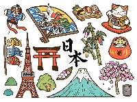 Japanese themed mail art 🍙🍡🍱🌸✨