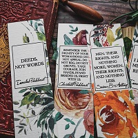 Handmade Women's History Month Bookmark