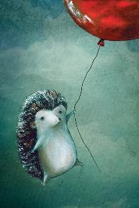 Hedgehog postcard #1
