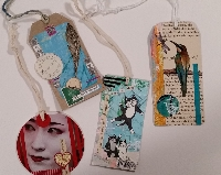 Collaged Clothing Tag