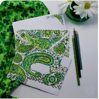 St. Patrick's Day Mail Art Decorated Envelope  USA