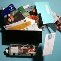 Junk Mail Collage ATC swap