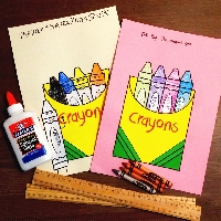 Celebrate National Crayon Day Handmade Postcard