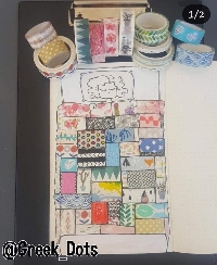 ATC A DAY #16 - Washi Tape Art