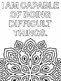Inspirational adult coloring page