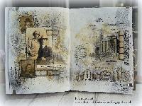 Handmade Art Journal Go Round R51