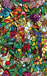 Stained Glass ATC