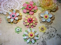 Handmade embellishment clusters swap