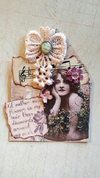 GAA: Flowers in Her Hair Gothic Arch ATC