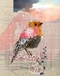 MFF: Collaged Bird ATC