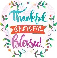 MEGA Happy Little Notecards GRATITUDE USA #33