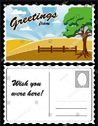 HD/HP 'I am a tiny Postcard' ATC swap
