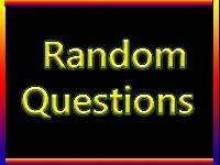 Random Question Swap #1