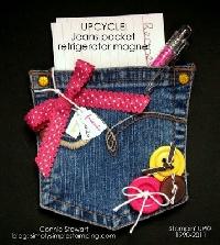 Blue Jeans Pocket Refrigerator Magnet