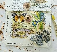 Napkin decoupage envelope