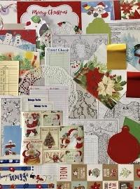 Winter/Christmas Junk/Art Journal supply swap