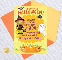 2 Partner Ghost or Witch Halloween Card Swap - USA