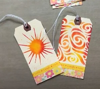 YTPC: Stenciled Tags Autumn Colors