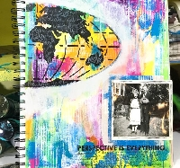 Handmade Art Journal Go Round R55