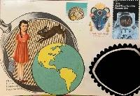 Postcard doodles/collage #1