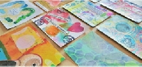 Handmade Set of Postcards